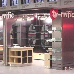 Airport retail store kiosk