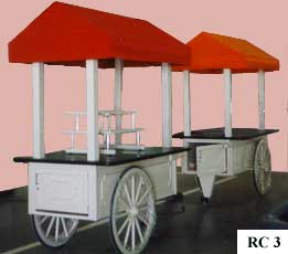 Custom portable outdoor retail carts for Toledo Zoo with tiered