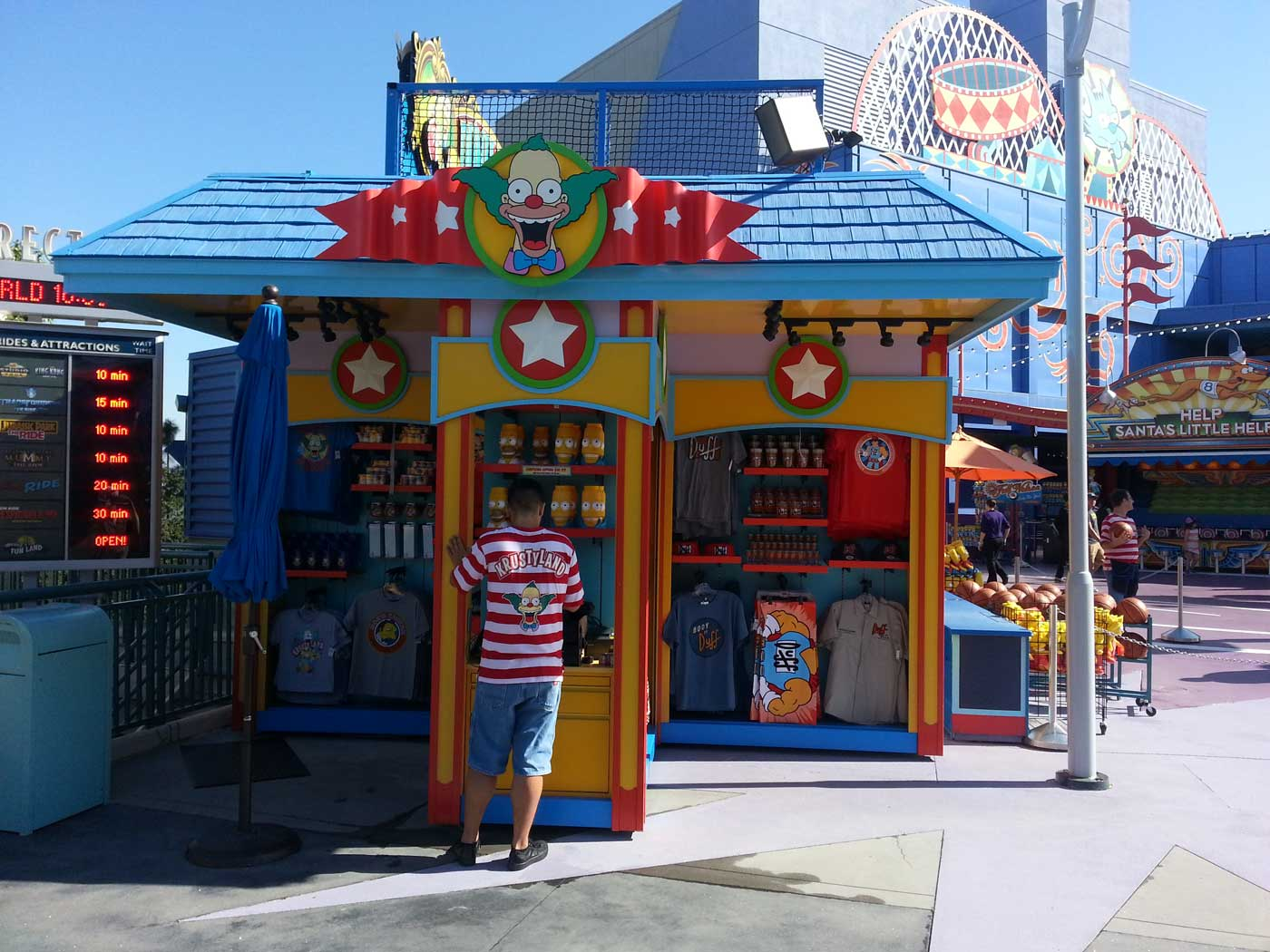 Universal Studios Hollywood Kiosk by Merchandising Frontiers, Inc.