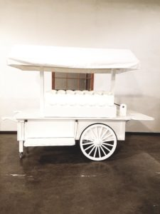 Neiman Marcus Flower Wagon Wheel Cart