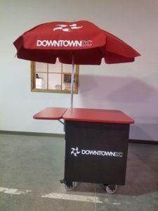 Washington DC BID Umbrella Cart